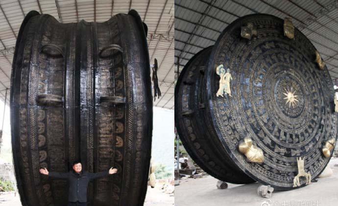 广西世界最大铜鼓