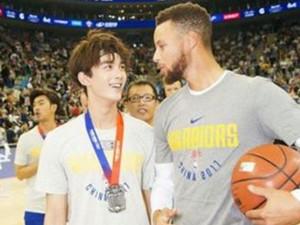 吴磊出任篮球大使 与库里对飙3分也不逊色
