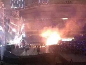 五月天演唱会着火 突发意外幸好及时消除无人员伤亡
