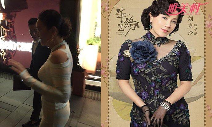 52岁巩俐和刘嘉玲对比照