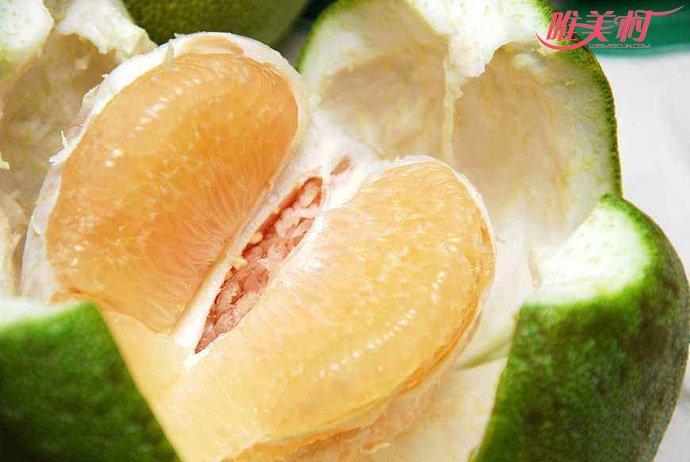 冬天吃水果柚子