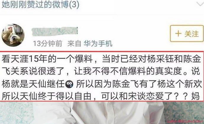 刘亦菲深夜发文