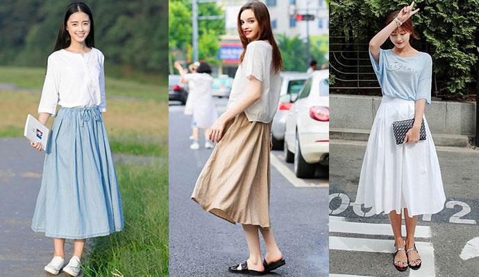 棉麻长裙搭配什么上衣