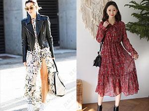 长袖碎花连衣裙怎么搭配 4种搭配方法令你秒变小仙女