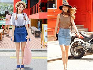 半身牛仔裙怎么搭配 半身牛仔裙的正确穿搭这样穿才会潮