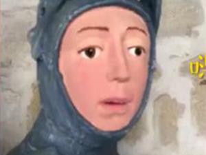 雕像修复画风突变 艺术品秒变成卡通令人看傻眼
