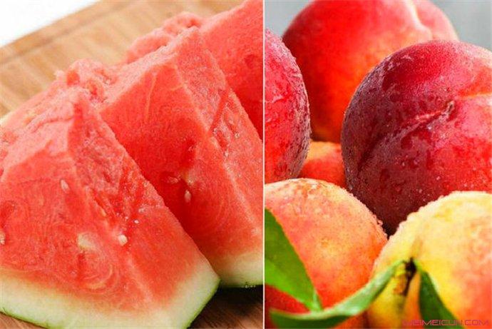 西瓜和桃子能一起吃吗