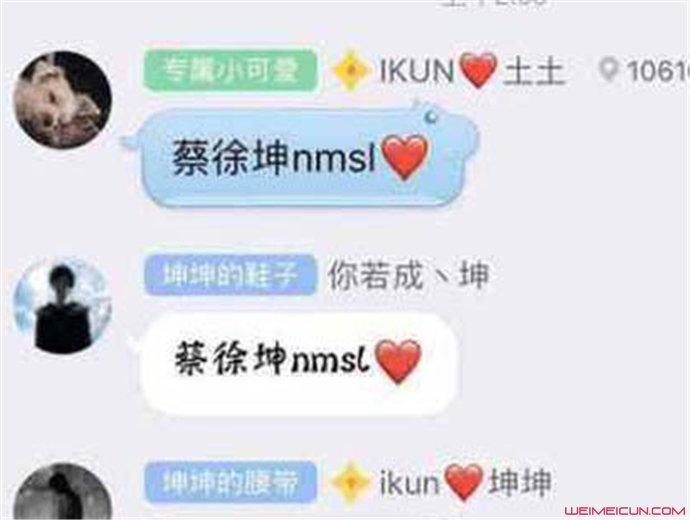 网络用语nmsl蔡徐坤
