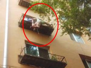 男子跳楼悬挂四楼花台 拒绝搭救背后原因及