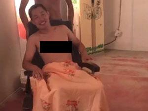高铁霸座男晒视频 高铁霸座男裸上身坐轮椅