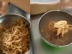 小学营养餐仅半碗面怎么回事 曝详细情况学生用水冲泡食用