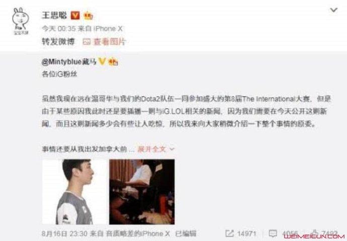 王思聪宣布成为职业选手