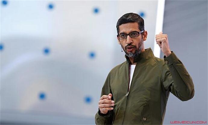 谷歌首席执行官Sundar Pichai