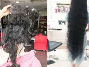 洗头8小时缠成死结 一米长发女子洗头为什么会缠成死结