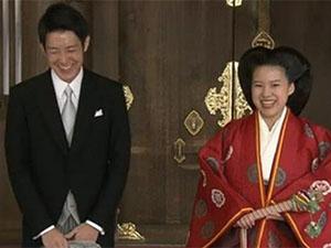 日本绚子公主大婚 没想到绚子公主和老公竟