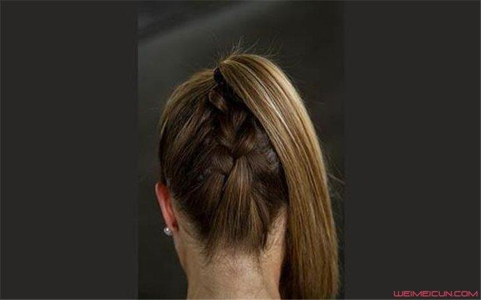 女生自己可以编的简单发型