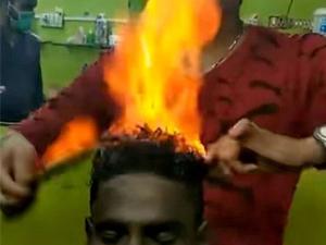 印理发师喷火剪发怎么回事 现场经过以及背后技术太厉害了