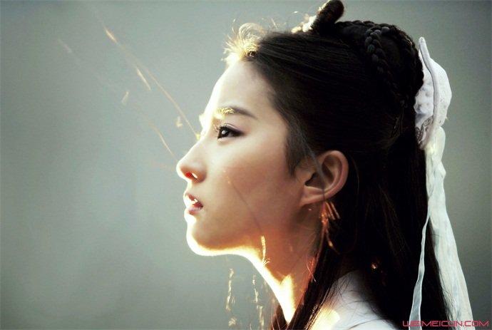 刘亦菲小龙女侧颜