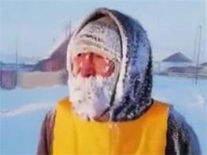 零下52度马拉松 参赛者满脸雪霜没有一个人跑完全程