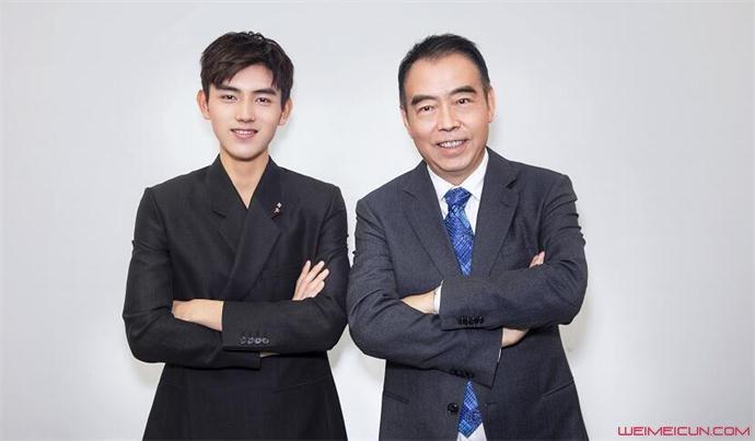 陈飞宇和爸爸的合影