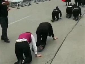 女员工跪地爬行咋回事 跪地爬行缘由被揭竟