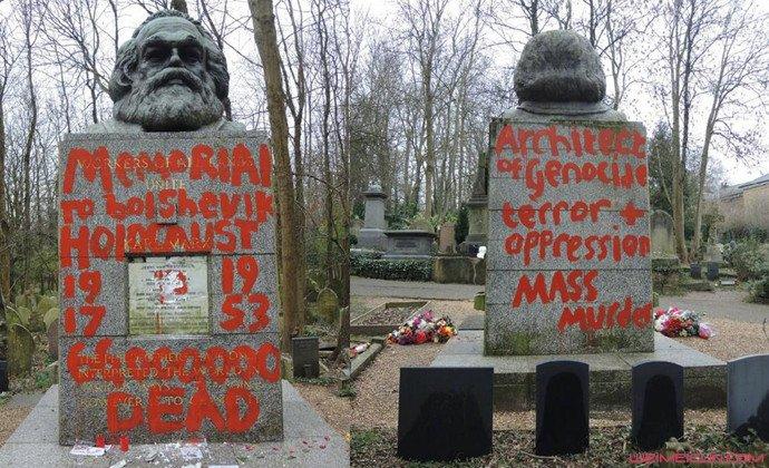 马克思墓地被毁