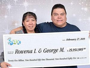 夫妇领走1.3亿巨奖 中奖后辞掉20年的工作妻子称不敢相信