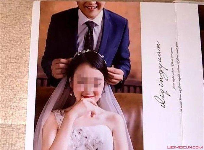 婚纱照只有半张脸