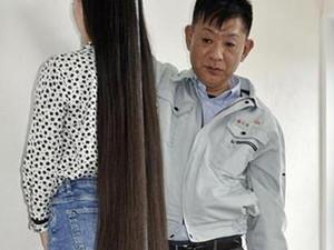 世界最长头发捐出 究竟会有多长画面曝光令人难以置信