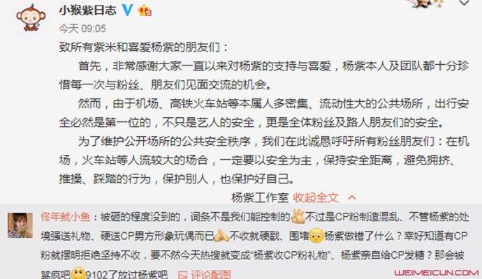 杨紫回应机场被砸 被CP粉围堵现场画面混乱不堪  第3张