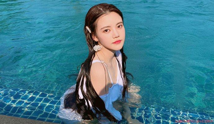 孙珍妮是混血儿吗 贵族小公主孙珍妮童年照及泳装曝光  第2张