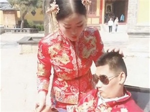 新娘与植物人婚纱照 新郎遭受电击他们的爱