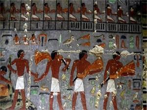 埃及发现4400年前古墓 壁画颜色保存完好令人难以置信