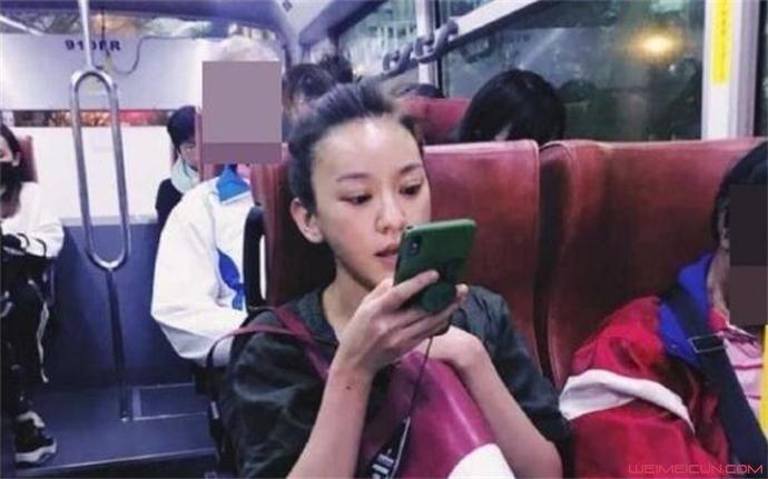 陈意涵公交被偶遇