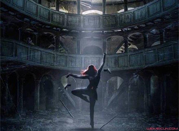 黑寡妇艺术海报