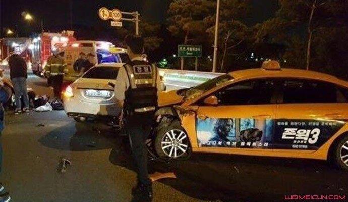 韩智星车祸现场照片