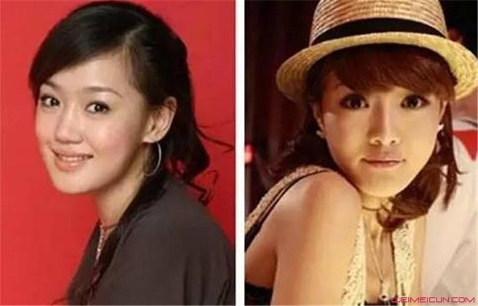 薛佳凝和邓家佳对比照