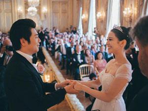 郎朗结婚婚礼视频曝光 其老婆颜值高身材好