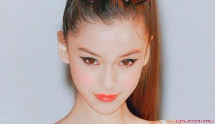 杨颖18岁广告照