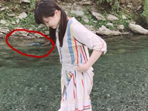 玩水拍到诡异人影 女星所拍到河面这一幕真相是什么