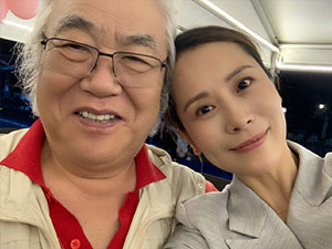 海清黄磊为恩师庆生 两人恩师齐先生是谁揭