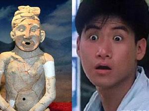古代陶人酷似张学友 中华祖神与张学友对比