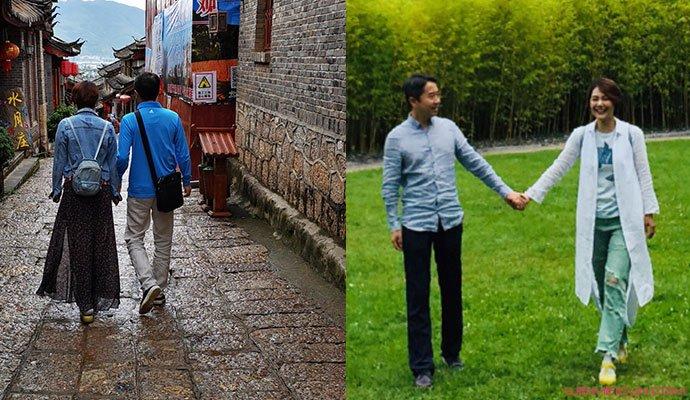 陈莹与老公照片