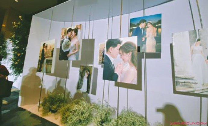 余声婚礼现场照片墙