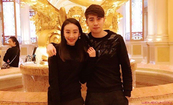 孟庆旸与老公合照
