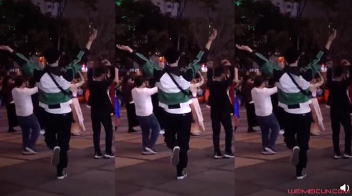 张艺兴跳广场舞