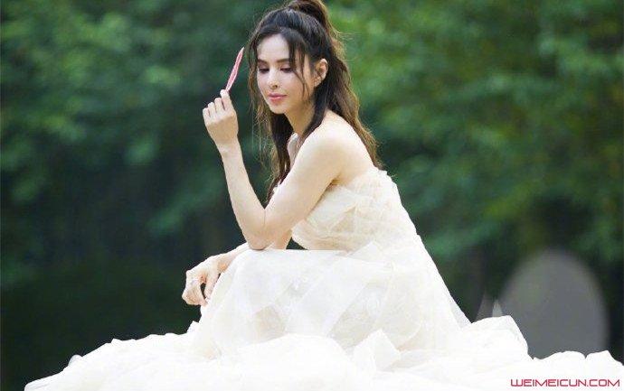 李若彤晒婚纱照