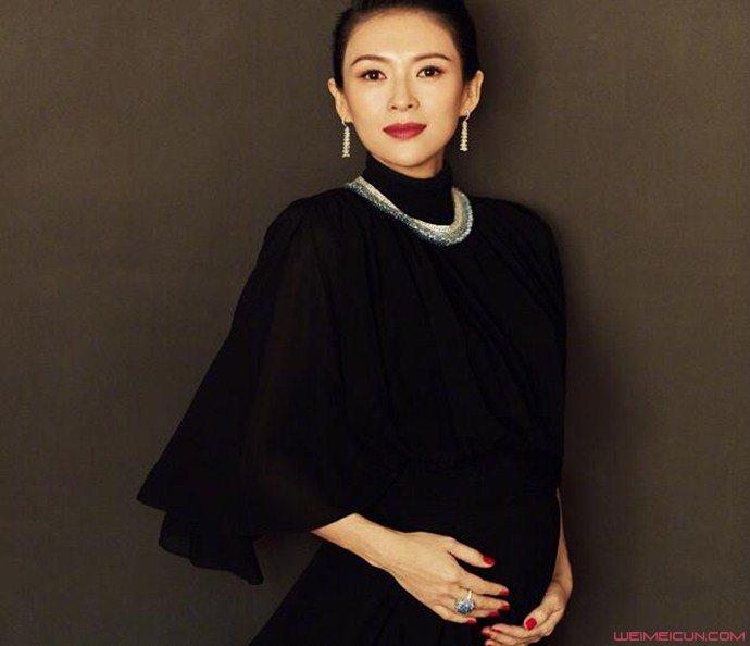 章子怡承认怀二胎