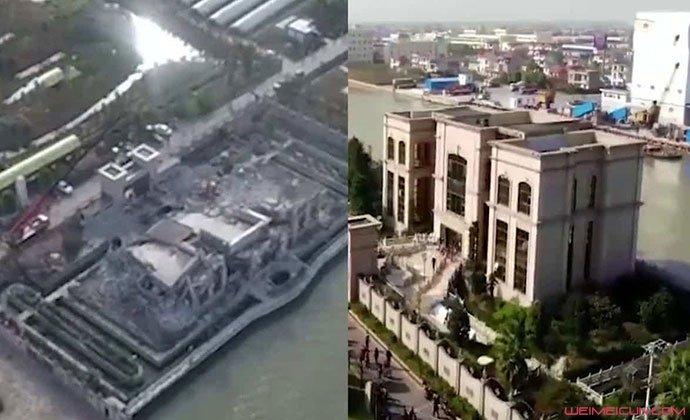 南通1.3亿豪宅被拆