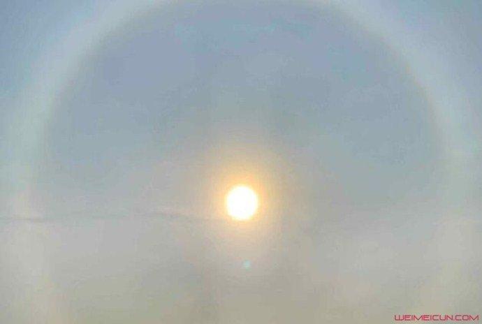 北京出现日晕景观